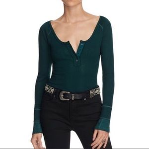 Free People Sugar And Spice Henley Thermal Top